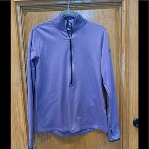 Nike purple Dri-fit 1/2 zip pullover XL